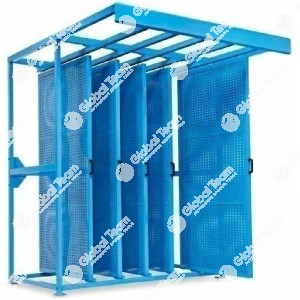 N.3 pannelli bifacciali scorrevoli porta utensili