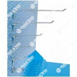 Confezione da 50 pz ganci per pannelli forati (disponibili 60-80-120-150-200 mm e con occhiello)