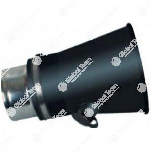 Bocchetta conica in gomma entrata diam.125 uscita 200 mm per veicoli industriali
