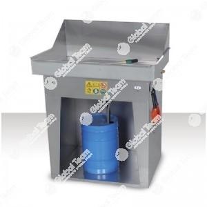 Vaschetta lavapezzi manuale pneumatica - a freddo - Vasca 900x600 mm - da utilizzare con solventi o prodotti base acqua