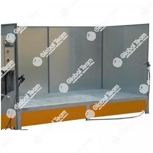 Zona lavaggio prefabbricata con pareti e grigliato antiruggine - dotata di pompa e disoliatore - certificata - da utilizzare con idropulitrice (esclusa)
