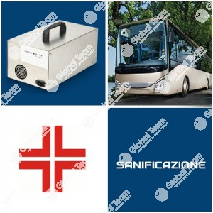 Ozonizzatore per la sanificazione e rimozione odori, virus e batteri - per abitacoli veicoli e ambienti - 1000 mg/h