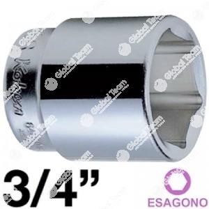 bussola - 3/4 - bianca - esagonale - corta - 54 mm