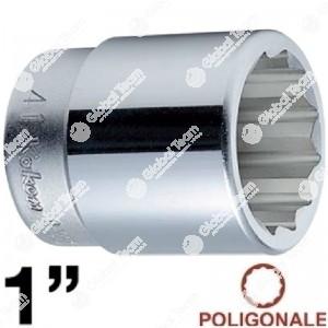 bussola - 1 - bianca - poligonale - corta - 68 mm