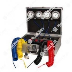 Kit in cassa per prova pressioni pneumatiche in impianti frenanti veicoli industriali