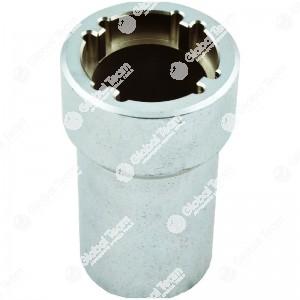 Chiave per ghiere cambi IVECO Daily - n. denti interni   4 - Misura tra denti  38,5mm - Esterno ghiera   44mm - Larghezza dente 4,5mm - Profondita' 78mm