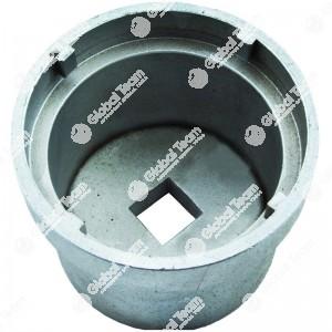 Chiave per ghiere cambi e trasmissioni SCANIA (fine) - n. denti interni 4 - Misura tra denti  102mm - Esterno ghiera 111mm - Larghezza dente 8mm - Profondita' 83mm
