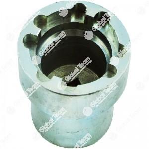 Chiave per ghiere - n. denti 4 - Misura tra denti  34mm - Esterno ghiera 38mm - Altezza 60mm