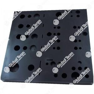 Attrezzo ausiliario (in teflon) piastra per l'abbinamento di tasselli a spinta, pistoni e molle del comando idraulico ZF Ecolife