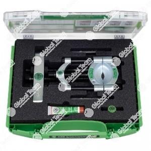 Set in valigetta con separatori con vite di pressione a serraggio rapido - apertura 25>155 mm