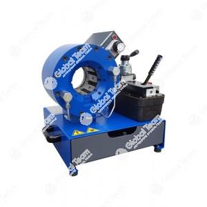 """Pressa con pedale pneumo-idraulico e indicatore di quota analogico, ideale per la raccordatura di tubi flessibili oleodinamici fino a 1.1/2 """" 4Sp"""