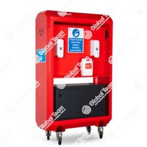 Stazione sanificatrice maxi mobile , completa per officine veicoli industriali e industria . Alta qualità