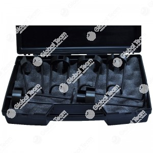 Kit 6 pinzette in cassetta di plastica per raccordi aria RAUFOSS veicoli industriali diam. 6-8-10-12-15-16 mm