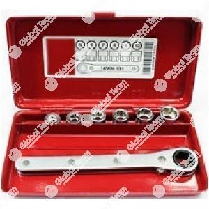 Cassetta kit bussole + cricco per arretrare cilindretti freno