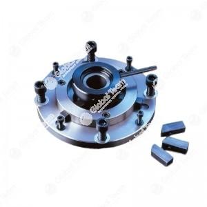 Flangia autocentrante per tamburi 8 fori (specificare diam.albero tornio)
