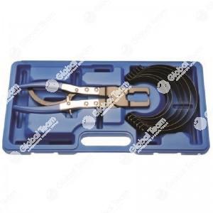 Pinza a cricchetto in cassetta con serie fasce per segmenti pistoni. Diam. Fasce: 73-79/79-86/86-92/92-98/98-105/105-111