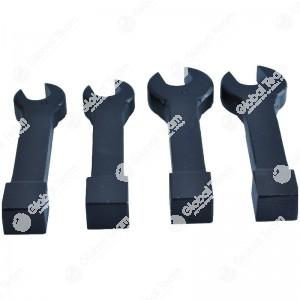 Set 4 chiavi a battere aperte - inclinate 15 gradi - per dadi turbine - misure 17-18-19-21 mm