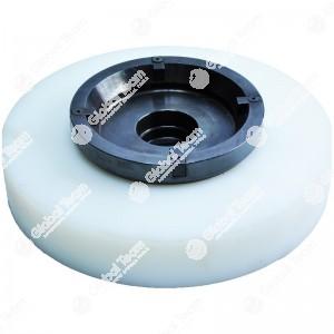 Chiave per ghiera mozzi posteriore SCANIA con riduttori (4 denti) - con disco guida in teflon