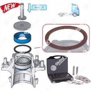 Kit di attrezzi universale per l'installazione e la rimozione dei cuscinetti e paraoli mozzi IVECO, MERCEDES, SCANIA, VOLVO, BPW, SAF ecc... - da utilizzare sotto pressa