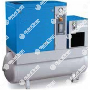 Compressore silenziato a vite 13bar con essicatore 15HP/11Kw comprensivo di filtri - Mark