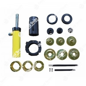 Kit estrattore ed introduttore boccole e silentblock con pistone idraulico e serie anelli (pompa esclusa)