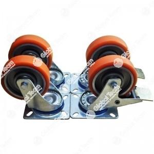 Kit 4 ruote piroettanti di cui 2 con freno