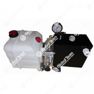 Pompa universale elettrica per spurgo 3 asse veicoli industriali (manometro 25 bar) - alimetata con la batteria del mezzo (tramite coccodrilli)