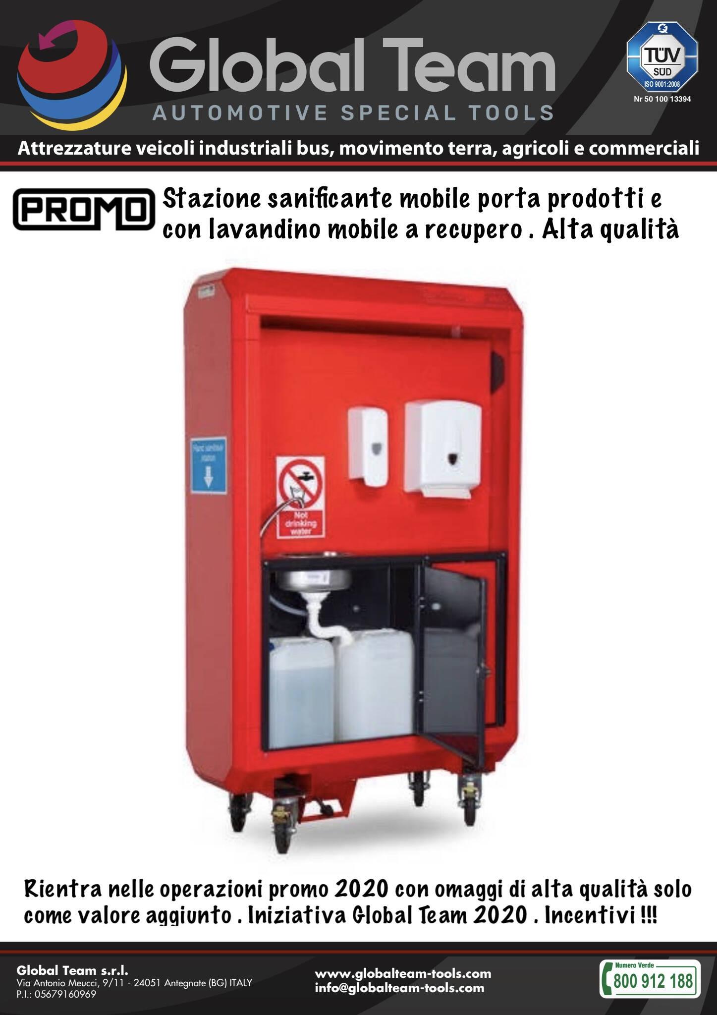 Armadio mobile a rubinetto con recupero acque per zona sanificante certificata in officine veicoli industriali ed industria . Alta qualità
