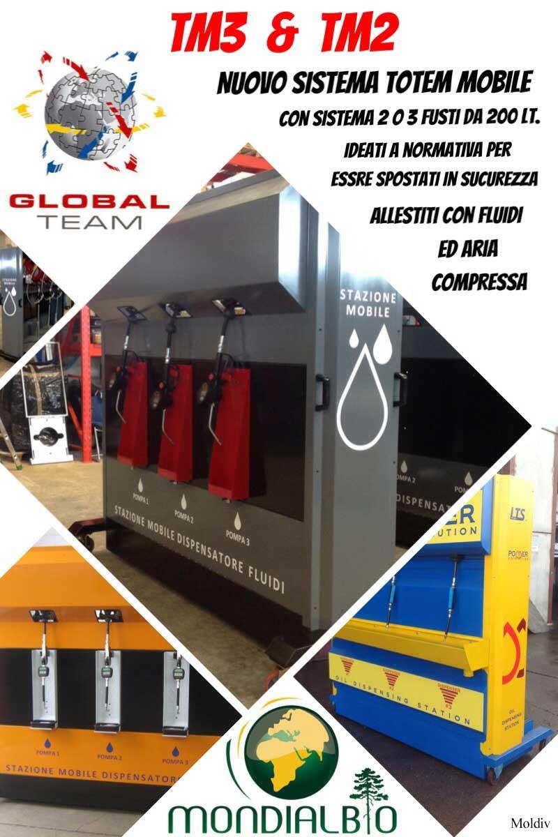 Siamo in promo con la nostra produzione nuovi totem mobili a 3 o a 2 fusti, articoli TM3 o TM2, con impianti distribuzione fluidi ed allacci aria compressa. Richiedi un'offerta gratuita e verifica...