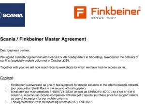 Accordo quadro Finkbeiner/SCANIA