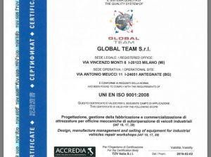 Siamo certificati TUV