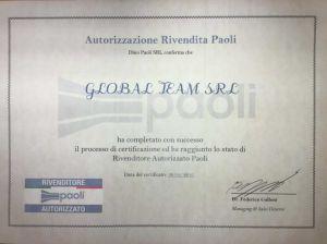 Certificato Dino Paoli